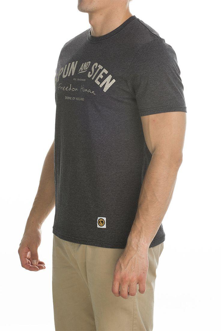 T-shirt main; charcoal.