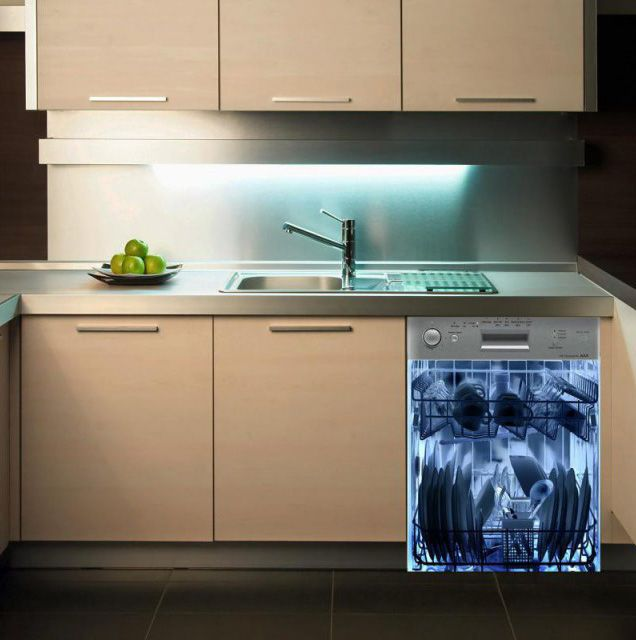 nice Crazy Kitchen Appliances #6: I love this dishwasher... but it would mean never just slapping stuff in