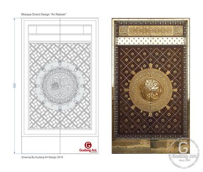 Desain Pintu Masjid - Ornamen pintu masjid Nabawi