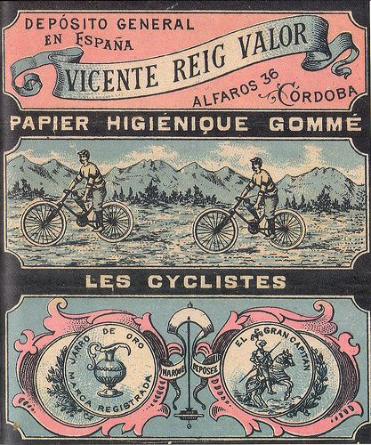 Les Cyclistes (Vincente Reig Valor) Alcoy, 1904.Rolling Papers from Spain
