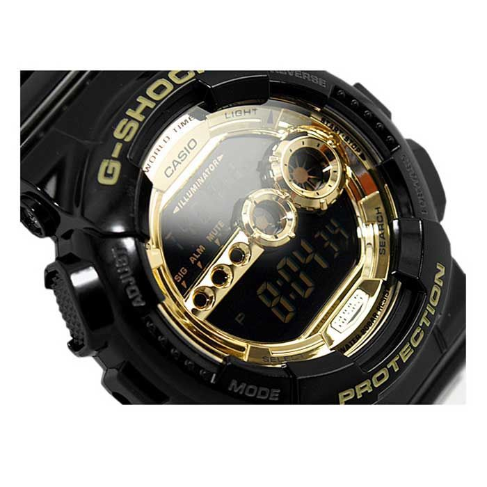 Genuine Casio G-Shock GD-100GB-1ER Men's Gold Dial Digital Wrist Watch - Black - Free Shipping - DealExtreme
