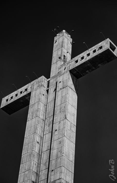 This is an iconic symbol in Coquimbo, Chile but to me it looks a bit like a high-rise prison.