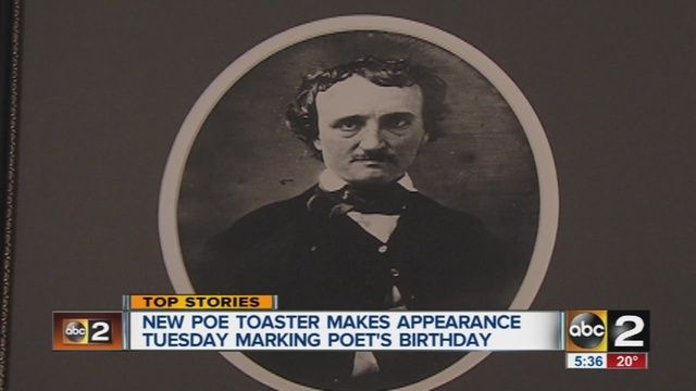 Edgar Allan Poe birthday tradition honored with new 'Poe Toaster' - ABC2News.com