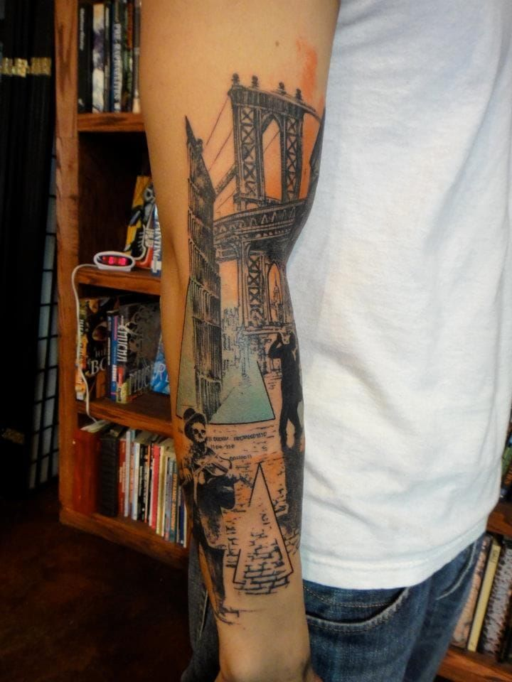 15 Artistic Bridge Tattoos | Tattoodo.com