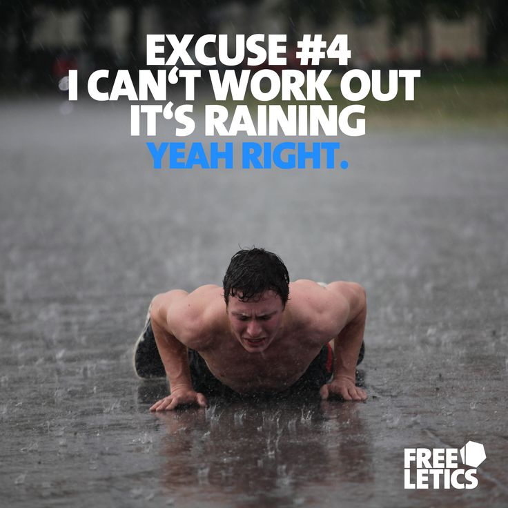 There is and always will be something that tries to hinder your workout. One day it might seem too cold. Another day too dark. The next day perhaps too hot. The one thing you need to understand is that it is not about being comfortable during a workout. You need to get comfortable at being uncomfortable. If you understand that all of the excuses won't matter anymore ►►► www.frltcs.com/NoEx