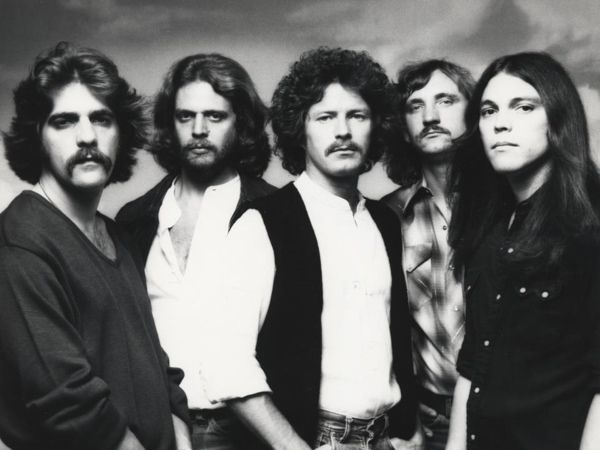 The Eagles ~ American rock band formed in Los Angeles, California 1971   With seven number-one singles, six Grammys, five American Music Awards, and six number one albums, the Eagles were one of the most successful musical acts of the 70s.At the end of the 20th century, two of their albums,Greatest Hits and Hotel California,ranked among the 20 best-selling albums in the U.S.Disbanding in July 1980 but reunited in 1994 for the album Hell Freezes Over. Inducted into Rock and Roll Hall of Fame…
