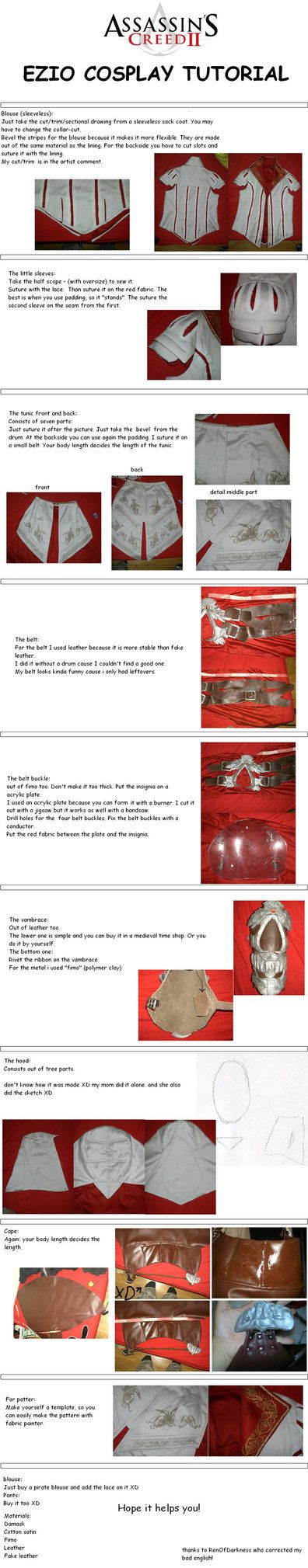 Ezio cosplay instructions. I'll save this for later.