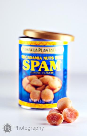 Spam-flavoredmacadamianuts! Go Hawaii!-(Sounds awful...)