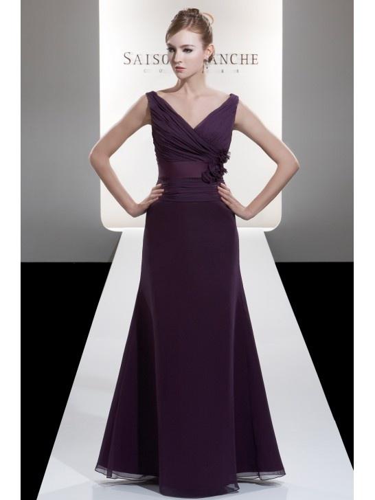 Deep Purple Wedding Dresses : Bridesmaid dresses bridesmaids length