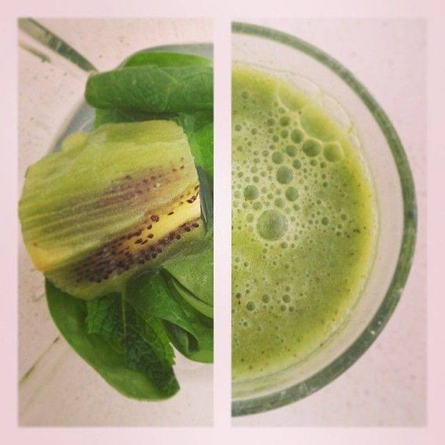 Green with Envy: Made with Coconut Water, Kiwi, Mint, Spinach, Lime and Ice  #supersmoothie #superpower #superfood #smoothie #powershake #health #wellness #fruits #omniblend #omniblendaustralia #blendit #mkr #mykitchenrules #creativekitchen #detox #fresh #healthkick #kickstart #greensmoothie #kiwi #coconut #coconutwater #mint #spinach #fresh
