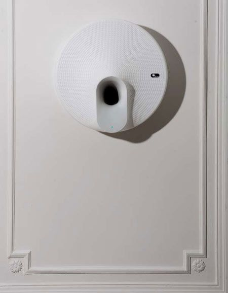 Wall mounted air purifier by Dezeen