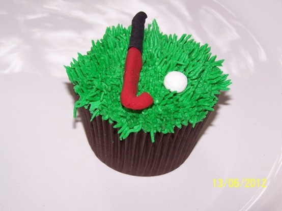 Hockey themed cupcake#Pin By:Pinterest++ for iPad#