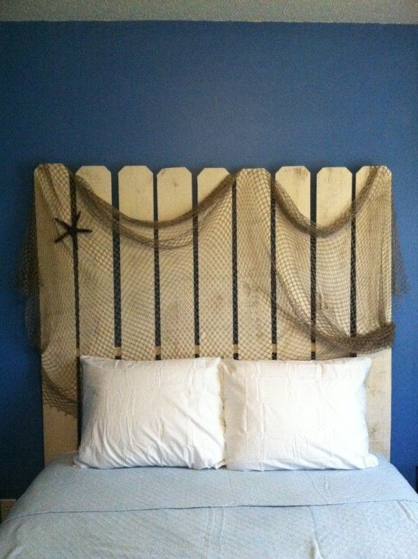 Beach House Decorating | 10 Creative Coastal Headboard Ideas | http://nauticalcottageblog.com