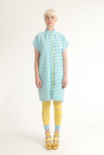 eley kishimoto - love the unexpected contrasting strip down the front.- kids