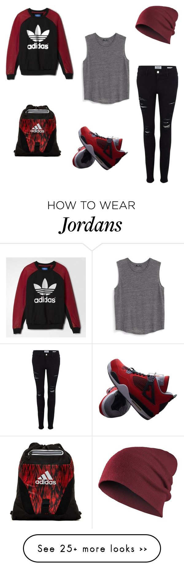 """♥"" by macopa on Polyvore featuring adidas, Frame Denim, MANGO and NIKE"
