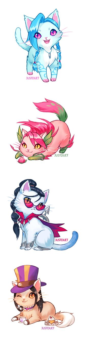 League of Legend Cats ver. This is too cute <3 #League_of_Legend #LoL #Cats league of legends champions