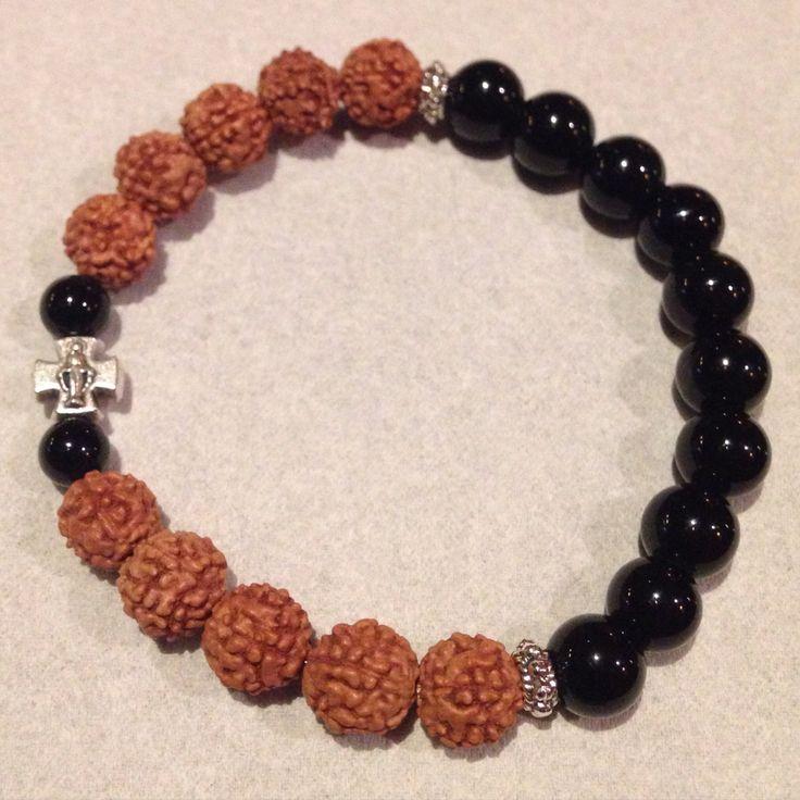 Black Onyx & Rudraksha bracelet