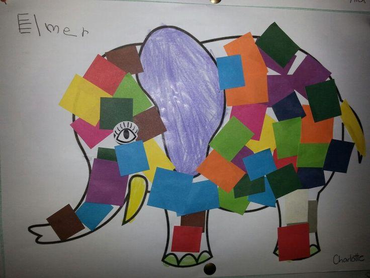 E is for Elmer the Elephant
