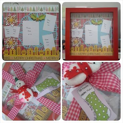 belongs to Debora 20x20cm christmas scrapbook