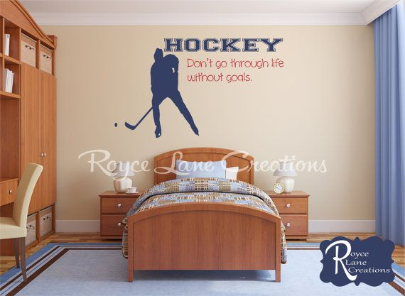 Ice Hockey Wall Quote Vinyl Wall Decal by Royce Lane Creations.