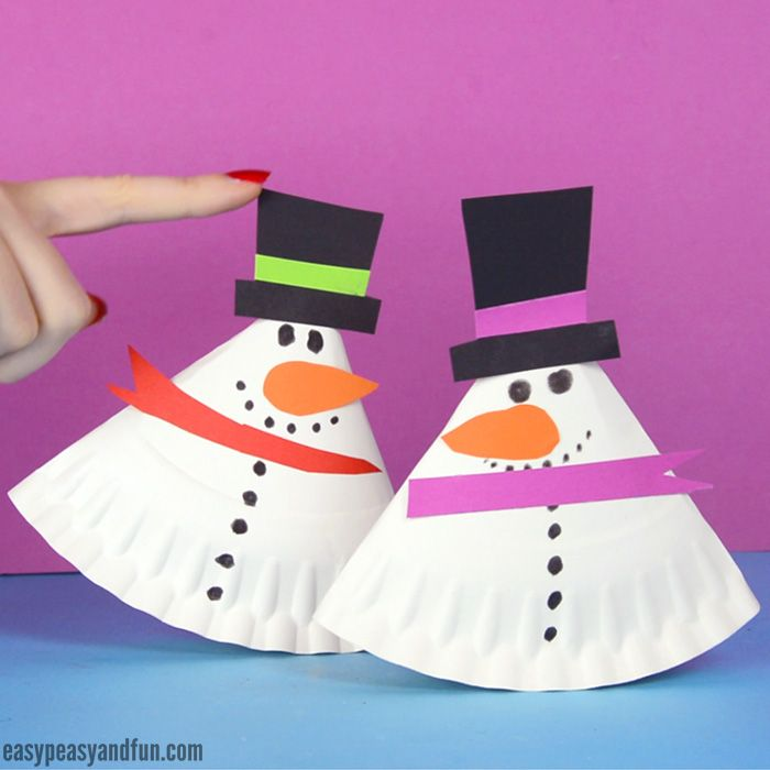 Rocking Paper Plate Snowman Winter Crafts For Kids Winter Paper