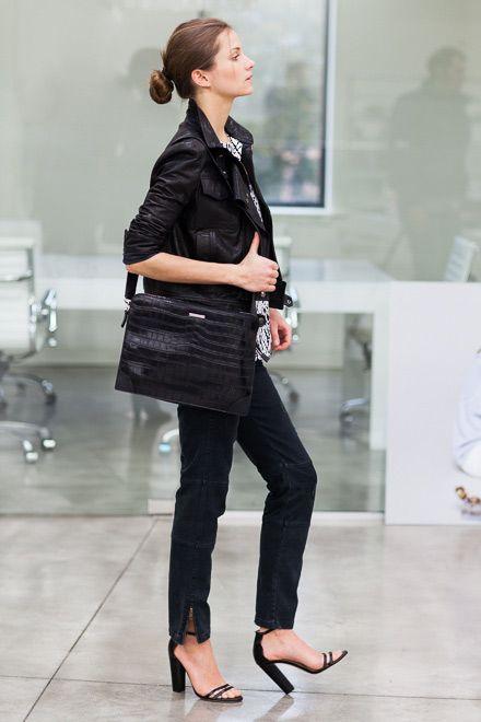 Emerson Portfolio Cross Body Bag - Croc   Emerson Fry