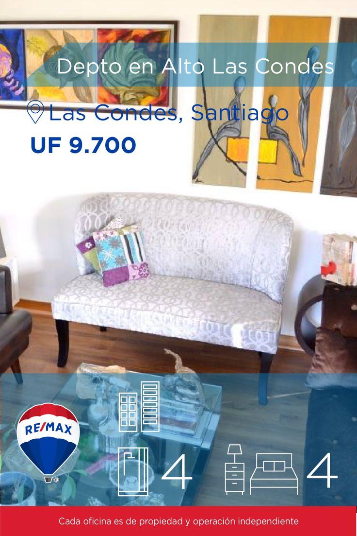 [#Departamento en #Venta] - #Depto en Alto Las Condes : 4 : 3  #propiedades #inmuebles #bienesraices #inmobiliaria #agenteinmobiliario #exclusividad #asesores #construcción #vivienda #realestate #invertir #REMAX #Broker #inversionistas #arquitectos #venta #arriendo #casa #departamento #oficina #chile