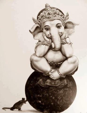 Om Gananaam tva Ganapati Gum Havamahe Kavimkaveenaa mupamashravastamam Jyestharajam Brahmanaam Brahmanaspata Aana shrunvanootibhi seedhasadhanam Maha Ganapataye Namah. May we worship Ganapati, the Protector of Noble People The best Poet, the Most Honourable, The Greatest Ruler and the treasure of all knowledge. O Ganapati, please listen to us and take your seat in our heart.