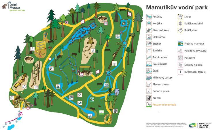 Mapa areálu Mamutíkova vodního parku Dolní Morava