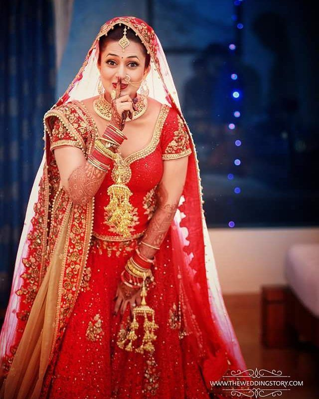 The beautiful bride Divyanka Tripathi @filmywave   #DivyankaTripathi…