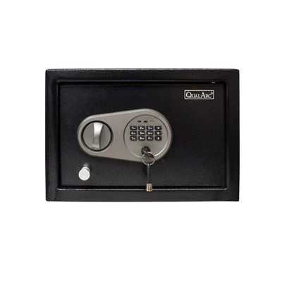 """Qualarc Drawer Safe Box with Electronic Lock Size: 8.7"""" H x 12.6"""" W x 4.3"""" D"""