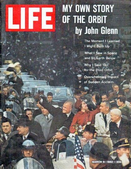 "1962 LIFE MAGAZINE vintage magazine cover ""John Glenn"" ~ My Own Story Of The Orbit by John Glenn ~"
