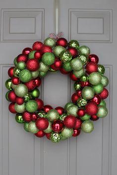 diy ornament wreath                                                                                                                                                                                 More