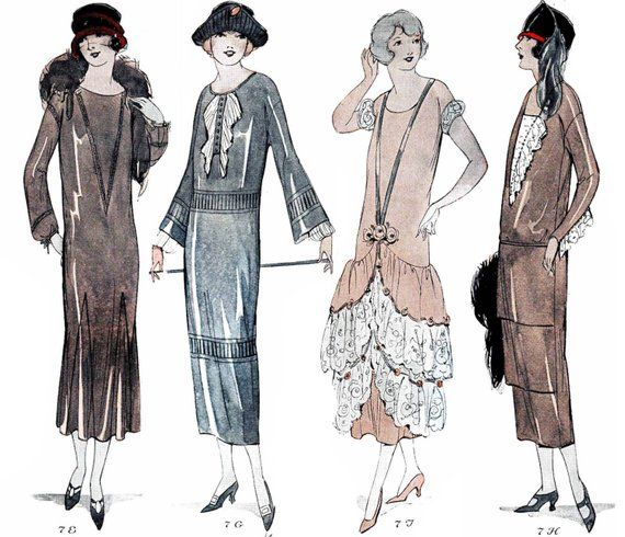Vintage Sewing Pattern Instructions 1920s 1-Hour One Piece Dress Ebook Depew 3001 -INSTANT DOWNLOAD