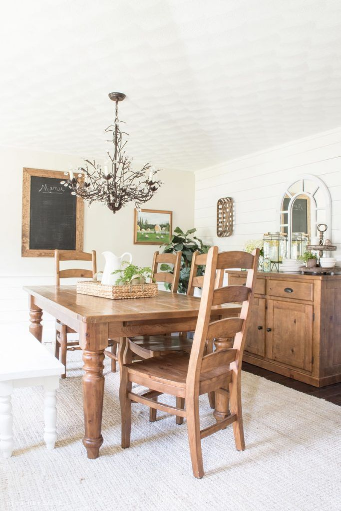 Country Farmhouse Dining Rooms