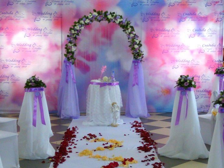 Выездная регистрация брака(оформление живыми цветами)