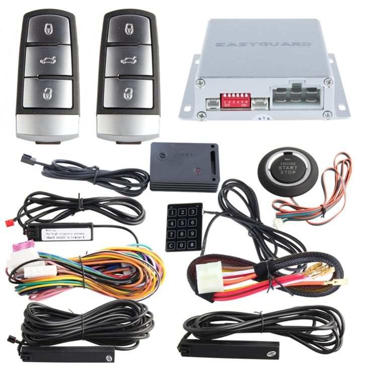 Easyguard Pke Car Alarm System Psssive Keyless Entry Remote Engine Start  U0026 Push Button Start