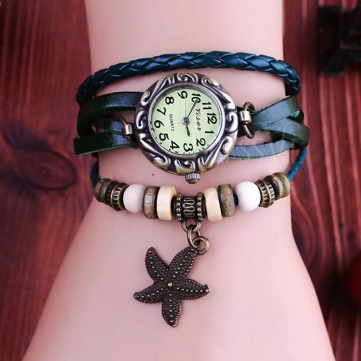 New Arrival Retro Trend Cute Starfish Design Lady's Watches