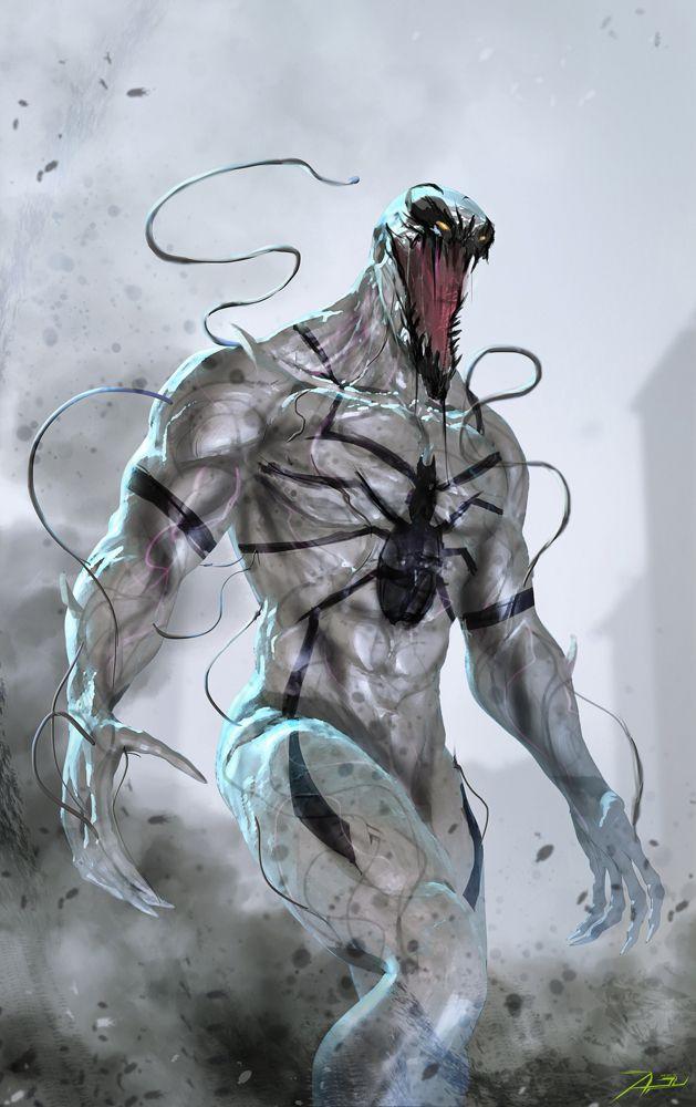 Anti Venom by Adnan Ali Fan Art 3D CGSociety Alien