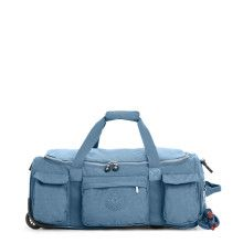 "Kipling on wheels _ Get on the go with this stunning wheeled duffle bag, featuring a collapsible design and a hidden handle for easy rolling. Inside, a zip pocket, mesh pouches, and luggage straps will keep everything in place. <br><br>Dimensions: 22.5"" L x 9.75"" H x 14.5"" D <br>Weight: 5.14 lbs"