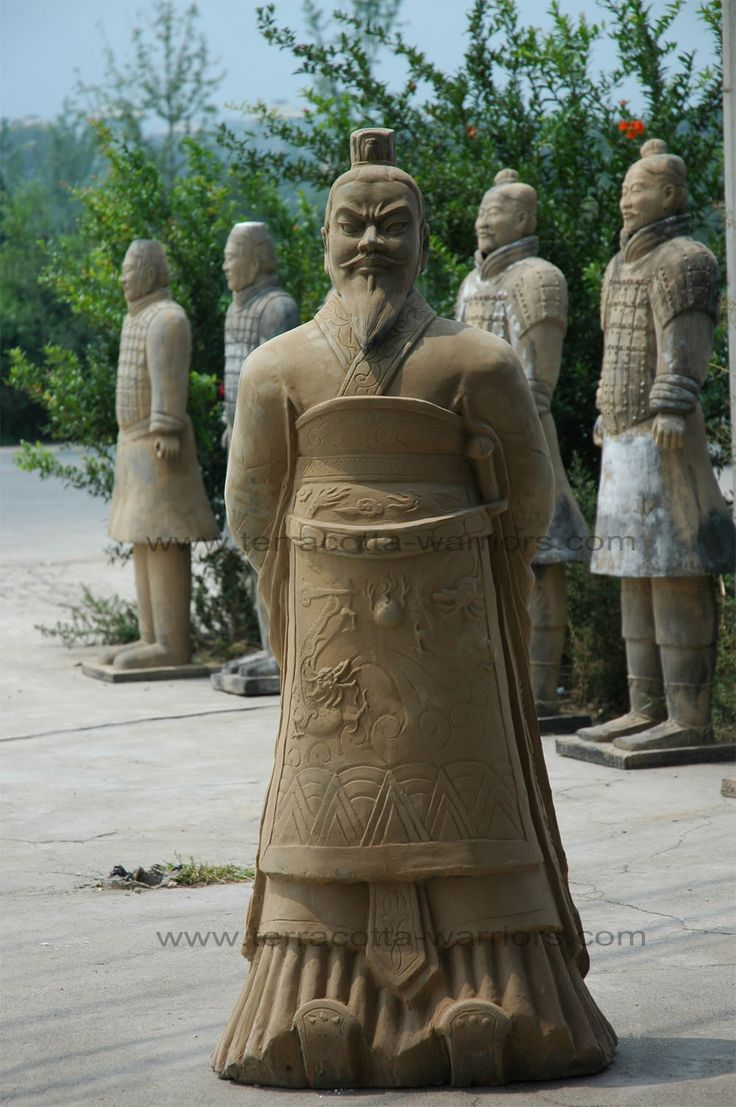 The Terracotta Army buried with the Emperor of Qin in 209-210 BC in Xian