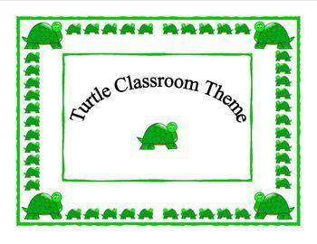 Turtle Classroom Theme