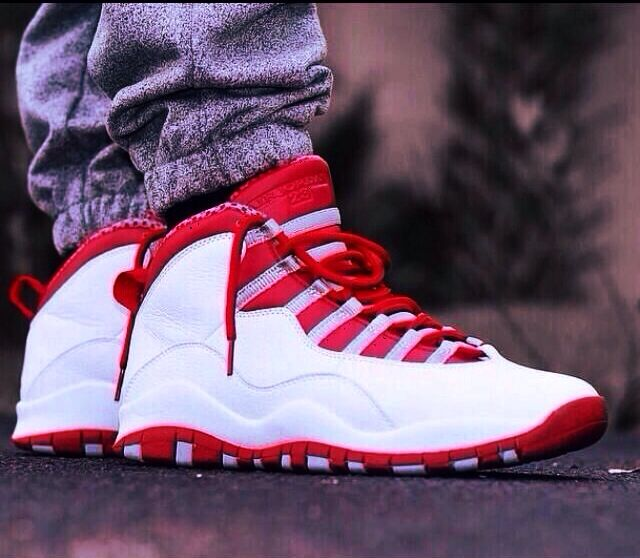 Dope varsity red Jordan retro 10  These in powder blue are my fave