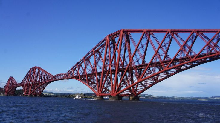 Forth Rail Bridge - Forth railway bridge across Firth of Forth, Edinburgh