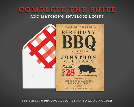 BBQ Party Invitation Backyard Barbecue by GreenhouseStudioLLC