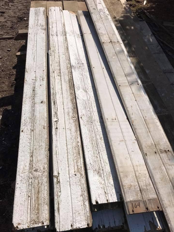 Faded White Barn Siding