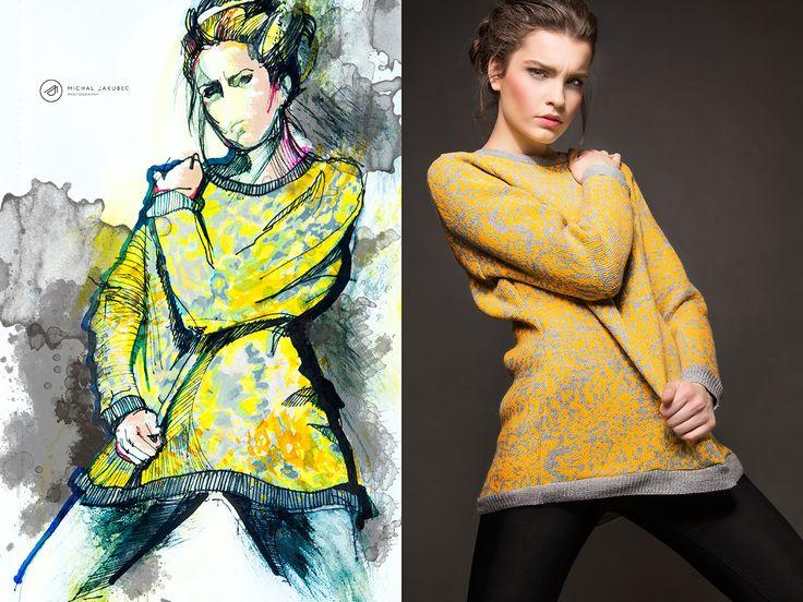 Model: Sara Antalova Agency: HM models Visage: Lucia Woloszyn Freund Fashion designer: Sisa Hollá Dress styling: Sisa Hollá Photo: Michal Jakubec