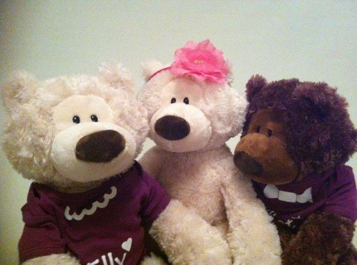 Three happy Ted-E-Bears having a chat!