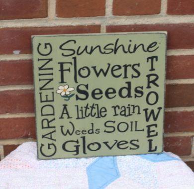 Garden Sign Ideas gardening sign Gardening