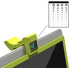 A digital lens that adjusts your monitor screen to your eyewear prescription, so you don't have to wear your glasses. #lens #eyewear #YankoDesign